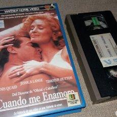 Cine: CUANDO ME ENAMORO- VHS- DENNIS QUAID- JESSICA LANGE. Lote 91003822