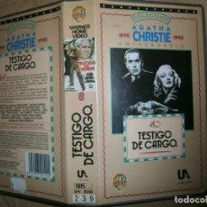 Cine: EL TESTIGO DE CARGO-(PELICULA-VHS...COMPRA MINIMA 10€). Lote 92762040