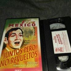 Cine: VHS- JUNTOS PERO NO REVUELTOS (1938)- JORGE NEGRETE- COLECCION VIVA MEXICO DIVISA. Lote 115650435