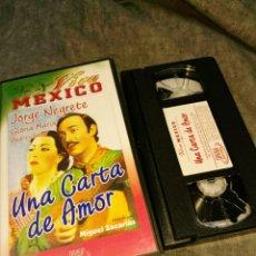Cine: VHS- UNA CARTA DE AMOR (1943)- JORGE NEGRETE- COLECCION VIVA MEXICO DIVISA. Lote 92989367