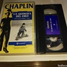 Cine: VHS- LA QUIMERA DEL ORO- COLECCION CHARLIE CHAPLIN VOL. 4. Lote 93152130
