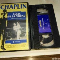 Cine: VHS- LUCES DE CIUDAD- COLECCION CHARLIE CHAPLIN VOL. 3. Lote 93152370
