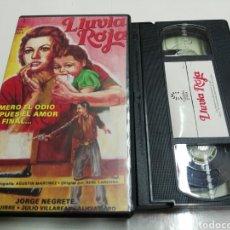 Cine: VHS- LLUVIA ROJA- JORGE NEGRETE- CORDOBA FILMS. Lote 150761729