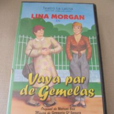 Cine: VHS VIDEO LINA MORGAN VAYA PAR DE GEMELAS. Lote 94413654