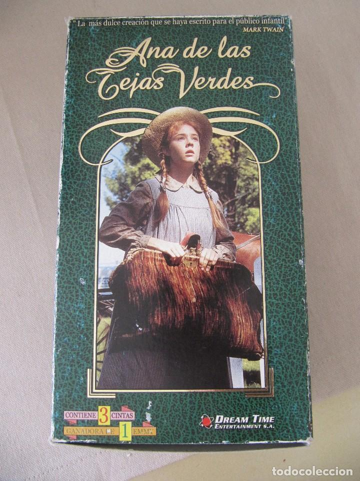 VHS VIDEO ANA DE LAS TEJAS VERDES SERIE TV MEGAN FOLLOWS, COLLEEN DEWHURST, RICHARD FARNSWORTH, (Cine - Películas - VHS)