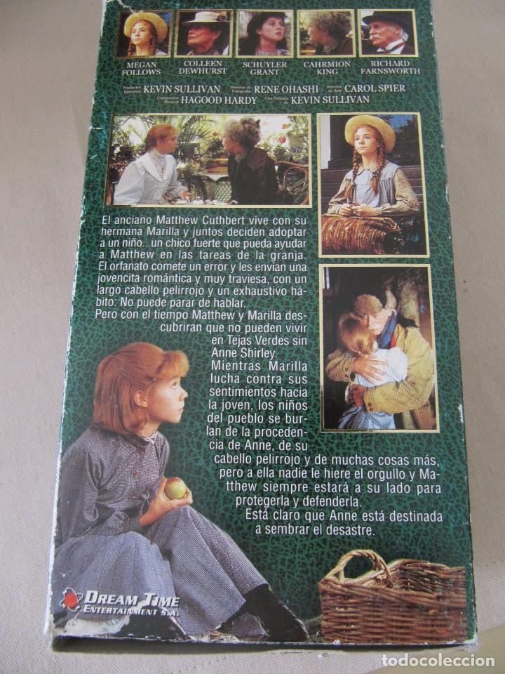 Cine: VHS VIDEO ANA DE LAS TEJAS VERDES SERIE TV Megan Follows, Colleen Dewhurst, Richard Farnsworth, - Foto 3 - 94426674