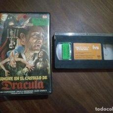 Cine: VHS SANGRE EN EL CASTILLO DE DRACULA NUNCA EN TODOCOLECCION. Lote 94764631