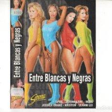 Cine: VHS - ENTRE BLANCAS Y NEGRAS - SERENNA VIDEO - EQUISS. Lote 95706963