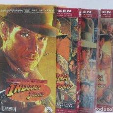 Cine: LOTE 3 VHS INDIANA JONES. Lote 95271795