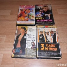 Cine: LOTE 4 VHS, BRIGADA ESPECIAL DE LOS ANGELES, DIAS REBELDES, 3 CLASES DE FUEGO, TESTIGO CLAVE.. Lote 95547743