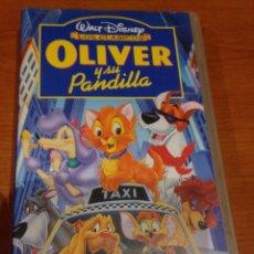 Cine: VHS WALT DISNEY OLIVER Y SU PANDILLA. Lote 95566159