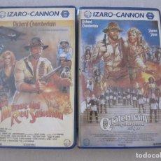Cine: PACK VHS VIDEO LAS MINAS DEL REY SALOMON QUATERMAIN Y LA CIUDAD PERDIDA DEL ORO CANON IZARO . Lote 95763035