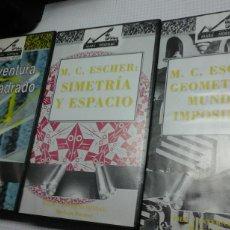Cine: LOTE VHS MATEMATICAS.LA AVENTURA DEL CUADRADO.GEOMETRIA Y MUNDOS...SIMETRIA Y ESPACIO. Lote 95763372