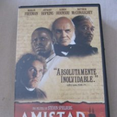Cine: VHS VIDEO AMISTAD STEVEN SPIELBERG MATTHEW MCCONAUGHEY DJIMON HOUNSOU MORGAN FREEMAN ANTHONY H. Lote 95763635