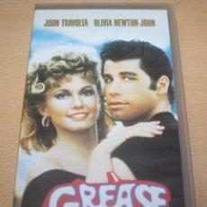 Cine: PELÍCULA GREASE EN CINTA VHS. Lote 95901587