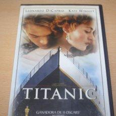 Cine: PELÍCULA TITANIC EN CINTA VHS. Lote 95902411