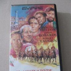 Cine: VHS VIDEO EL ASESINATO DE JULIO CESAR PRIMERA EDICION CHARLTON HESTON JOHN GIELGUD CHRISTOPHER LEE . Lote 95983151