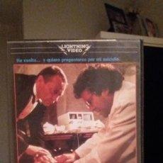 Cine: VHS PREGUNTAS SOBRE UN SUICIDIO - 1 EDICION - LIGHTING VIDEO - NUNCA EN DVD - AUD Y VID EXCEL. Lote 96121243