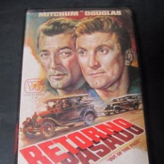 Cine: VHS VIDEO RETORNO AL PASADO JACQUES TOURNEUR KIRK DOUGLAS ROBERT MITCHUM RKO VIDEOTECHNICS MAC. Lote 96616063