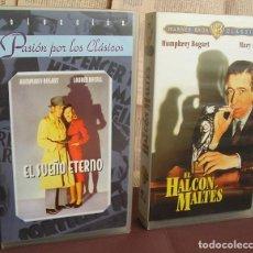 Cine: DOS BOGART: 'EL HALCÓN MALTÉS' JOHN HUSTON, 1941 + 'EL SUEÑO ETERNO' HOWARD HAWKS, 1946. Lote 96637359