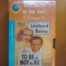 Cine: VHS SER O NO SER (1942) DE ERNST LUBITSCH. ¡NUEVA Y PRECINTADA!. Lote 96795583