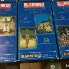 Cine: 29 CINTAS VHS DE LA SEMANA SANTA DE SEVILLA HASTA EL AÑO 92. Lote 96803815