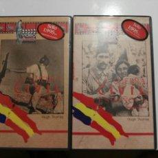 Cine: VHS- LA GUERRA CIVIL ESPAÑOLA VOLUMEN 1 Y 2- HUGH THOMAS. Lote 97125723