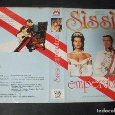 Cine: CARATULA GRANDE ORIGINAL VHS SISSI EMPERATRIZ ROMY SCHNEIDER KARLHEINZ BÖHM MAGDA SCHNEIDER. Lote 97184723