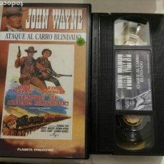 Cine: VHS- ATAQUE AL CARRO BLINDADO- JOHN WAYNE KIRK DOUGLAS. Lote 97283358
