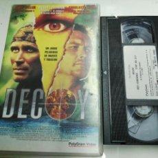 Cine: VHS- DECOY- PETER WELLER- VIDEOCLUB. Lote 97929659