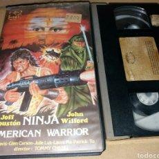 Cine: NINJA AMERICAN WARRIOR- VHS- ARTES MARCIALES- UNICA EN TC. Lote 98023362