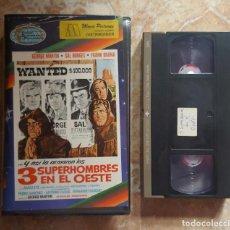 Cine: VHS - LOS 3 SUPERHOMBRES EN EL OESTE - LOS 3 SUPERMEN - RARISIMA EN VHS!!. Lote 98073907