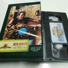 Cine: VHS- BEN-HUR- CHARLTON HESTON- MGM GREATS. Lote 98120734