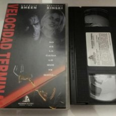 Cine: VHS- VELOCIDAD TERMINAL- CHARLIE SHEEN. Lote 112601422