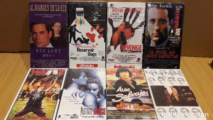 VHS !! LOTE COMPUESTO POR 8 PELÍCULAS / TODO PRECINTADO A ESTRENAR / VER FOTOS. (Cine - Películas - VHS)