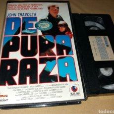 Cine: DE PURA RAZA- VHS- JOHN TRAVOLTA- . Lote 98397480