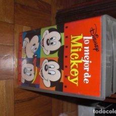 Cine: VHS LO MEJOR DE MICKEY Y LO MEJOR DE DONALD. Lote 98406179