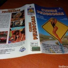 Cine: CARATULA VHS- CURVAS PELIGROSAS. Lote 98709658