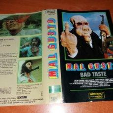 Cine: CARATULA VHS- MAL GUSTO. Lote 98726288