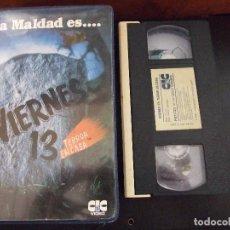 Cine: VIERNES 13 TERROR EN CASA MISTERIO PARA TRES I - 2 PRIMEROS CAPITULOS - CIC 1988. Lote 98883675
