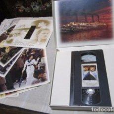Cine: CAJA TITANIC, CON VIDEO VHS Y FOTOGRAFÍAS.. Lote 99062419