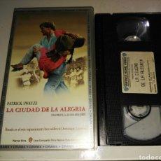 Cine: VHS- LA CIUDAD DE LA ALEGRIA- PATRICK SWAYZE. Lote 99278235