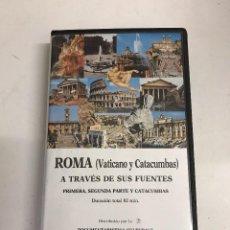 Cine: VHS ROMA VATICANO Y CATACUMBAS. Lote 99297139