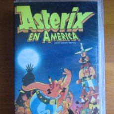 Cine: VHS ASTERIX EN AMÉRICA (1994) DE GERALD HAHN. MUY BUEN ESTADO. Lote 100551639