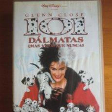 Cine: VHS 101 DÁLMATAS ¡MÁS VIVOS QUE NUNCA! (1996) DE STEPHEN HEREK, CON GLENN CLOSE. MUY BUEN ESTADO. Lote 100552407