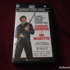 Cine: MR MAJESTYK VHS CHARLES BRONSON. Lote 100569227