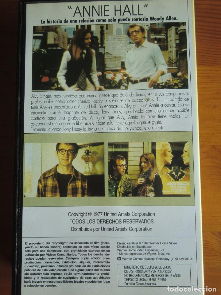 Cine: VHS ANNIE HALL (1977) de Woody Allen. Con Diane Keaton. Nueva - Foto 2 - 100625223