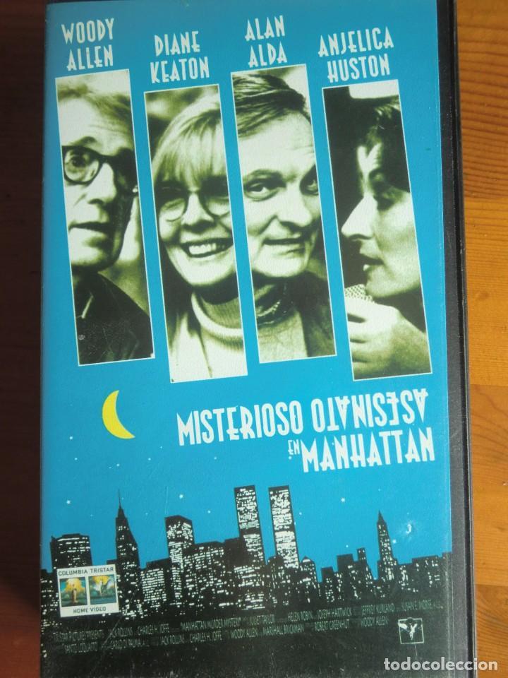 VHS MISTERIOSO ASESINATO EN MANHATTAN (1993) DE WOODY ALLEN. CON DIANE KEATON. NUEVA (Cine - Películas - VHS)