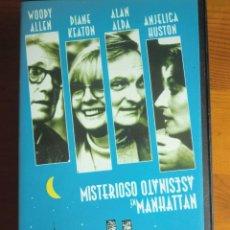 Cine: VHS MISTERIOSO ASESINATO EN MANHATTAN (1993) DE WOODY ALLEN. CON DIANE KEATON. NUEVA. Lote 100627511