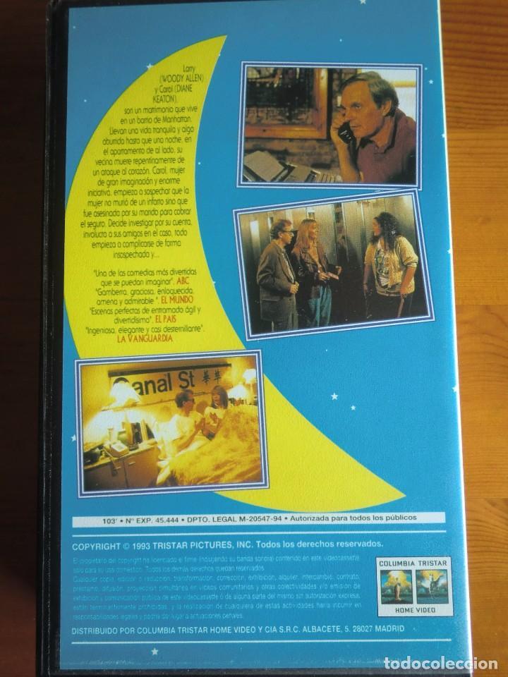 Cine: VHS MISTERIOSO ASESINATO EN MANHATTAN (1993) de Woody Allen. Con Diane Keaton. Nueva - Foto 2 - 100627511
